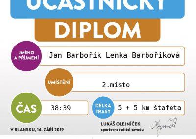Blanenská desítka 2019